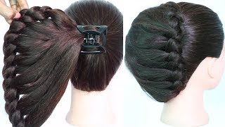 Download very easy hairstyle using clutcher with trick | braided hairstyles | new hairstyle | easy hairstyles Video