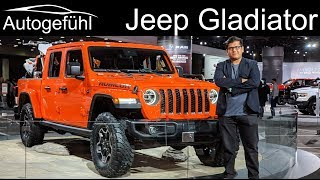 Download Jeep Wrangler JL Rubicon vs Jeep Gladiator Pickup comparison - Autogefühl Video