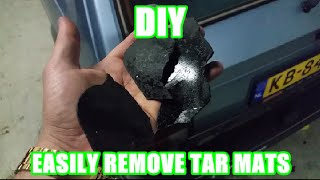 Download How to easily remove sound deadening / tar mats in a few minutes from your car Video