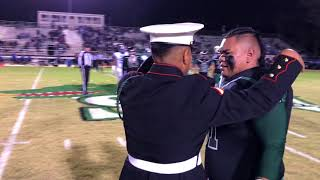 Download Marine Surprises his Younger Brother senior night at football game Video