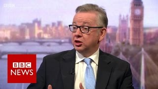 Download Michael Gove on Brexit, Nigel Farage and the customs union - BBC News Video