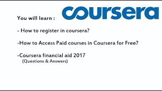 Download Coursera free courses with certificates Video