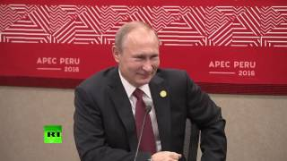 Download 'We can speak German' Putin and Peru's president decide what language to use at APEC (subtitles) Video