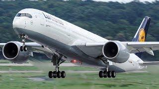 Download FIRST Lufthansa AIRBUS 350 LANDING at Düsseldorf - 4K Video