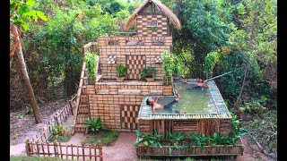 Download Build Beautiful Swimming pool & House Villa Using wooden in Will Video