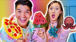 Download GUMMY vs REAL FOOD! ft Girlfriend Video