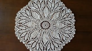 Download Crochet Doily - Fern Leaf Doily Part 4 Video