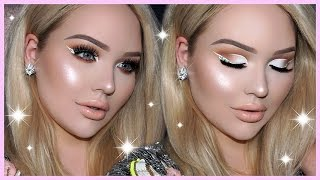 Download PROM MAKEUP TUTORIAL - White Cut Crease & DIAMOND Eyeliner Video