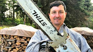 Download Why Loggers Run Upside Down Chainsaw Bars Video