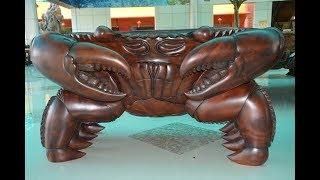 Download Đại gia Sóc Trăng sở hữu bộ bàn ghế ″Cua″ bằng gỗ nguyên khối giá 2 tỷ đồng Video
