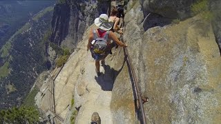 Download Yosemite Falls Trail - the SCARY part (2015) Video