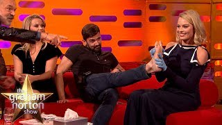 Download Margot Robbie TATTOOS One of the Production Staff! | The Graham Norton Show Video