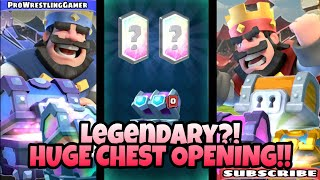 Download Legendary Card?! HUGE CHEST OPENING!! Clash Royale Video