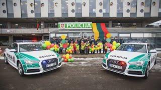 Download Kelių policija nuotaikingai ir spalvingai pasveikino Lietuvą Video
