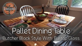 Download Dining Table Made From Pallets! Video