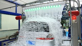 Download AUTOMATIC CAR WASH TUNNEL MACHINE WITH LAVAFALL MADE BY SHUIFU CHINA Video