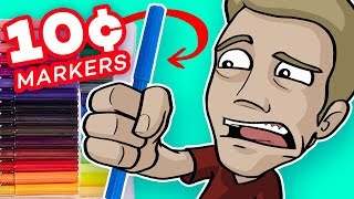 Download EPIC ART with CHEAP, CRAPPY MARKERS?! - (10¢ Per Marker) Video