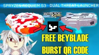 Download FREE WHITE SPRYZEN REQUIEM S3 SKIN AND WHITE/GREY DUAL THREAT LAUNCHER! BEYBLADE BURST EVOLUTION Video