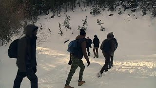 Download France: Tension rises as migrants brave the Alps Video