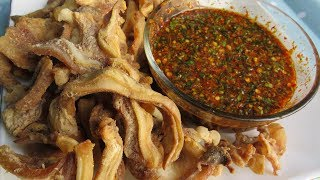 Download Fried Pork Ears And Spicy Chili Sauce / Asian Cooking Style Video