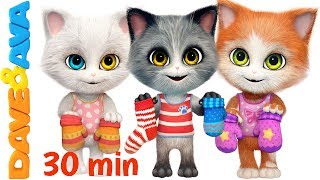 Download 😽 Three Little Kittens in New Nursery Rhymes Collection | Kids Songs from Dave and Ava 😽 Video