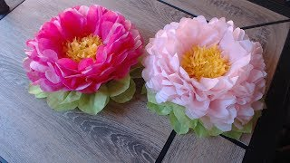 Download How to make tissue paper flower- super easy method/ Christmas decoration Video