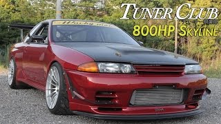 Download 800HP Time Attack Nissan Skyline GT-R(R32) Wacky Mate - Tuner Club Eps.5 Video