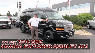 Download New 2016 GMC Savana Explorer Quigley 4X4 Lifted Conversion Van - White Bear Lake, St Paul, Mpls, MN Video