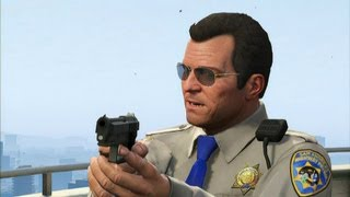 Download GTA V - Mexican Standoff with FIB, IAA, Merryweather and Police Video