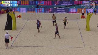 Download Mol.A/Sørum (NOR) vs. Pedro/Bruno (BRA) FIVB Major Series Gstaad 2018 Round of 16 Video