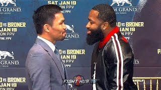 Download MANNY PACQUIAO & ADRIEN BRONER ALL LAUGHS DURING FUNNY FIRST FACE OFF IN NEW YORK Video