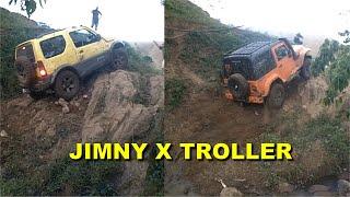 Download Jimny 4sport X Troller, no Paredão de Pedra | Rock Crawling light Video