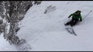 Download Extreme Skier Giulia Monego Skis Big Lines in La Grave, France - Turns & Curves, Episode 2 Video
