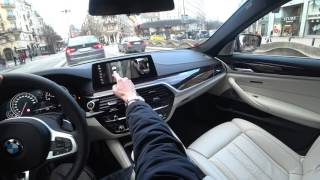 Download [4k] POV DAYLIGHT G30 BMW 540i xDrive short drive starting point Zlatan's house in Stockholm, Sweden Video