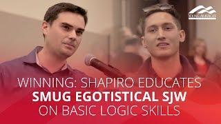 Download WINNING: Shapiro educates smug egotistical SJW on basic logic skills Video