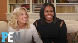 Download Michelle Obama & Dr. Jill Biden On Their Husbands' Bromance & More | PEN | Entertainment Weekly Video