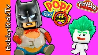 Download Giant Batpig Eats Lego Movie Minifigs! Blank Build with Play-Doh Video