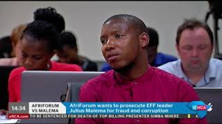 Download AfriForum to privately prosecute Malema Video