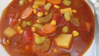 Download VEGETABLE SOUP - How to make simple Basic VEGETABLE SOUP Recipe Video