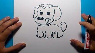 Download Como dibujar un perro paso a paso 13   How to draw a dog 13 Video