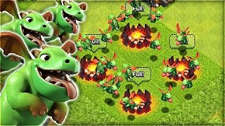 Download تجربة الهجوم بجيش كآمل من التنين الصغير الأخضر || Baby DraGon ! Video
