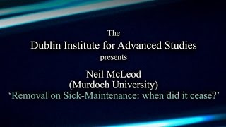 Download Medieval Law Conference 2014 - (Neil McLeod) 'Removal on Sick-maintenance: when did it cease? Video