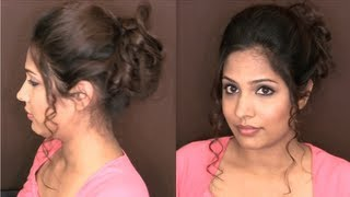 Download Easy Messy Curly Updo Hairstyles for Medium Long Hair - Wedding/Prom | HAIR TUTORIAL Video