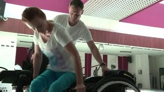 Download young wheelchair woman Video