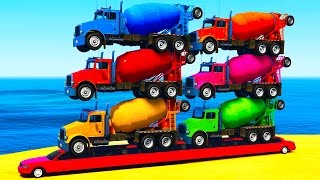 Download COLORS TRUCKS on LONG Car & Spiderman for Kids in Color Cars Cartoon for Toddlers w Nursery Rhymes Video