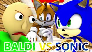 Download BALDI'S BASICS VS SONIC Baldi Minecraft Animation Horror Game Video