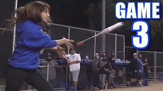 Download JASMINE CAN'T STOP THROWING HER BAT AT KIDS!   On-Season Softball League   Game 3 Video