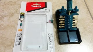Download Makita Impact GOLD Ultra Magnetic Torsion bit driver set review score 9/10 Video