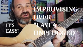 Download Stealing And Simplifying Clapton : Layla Unplugged Guitar Solo Improvisation Video