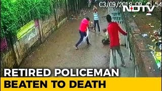 Download Retired Cop Beaten To Death In Allahabad, Locals Watched. Attack On CCTV Video